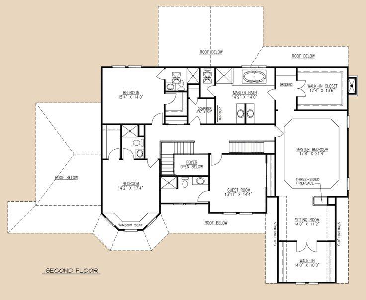 1000 images about floor plans on pinterest clinton n for Custom estate home plans