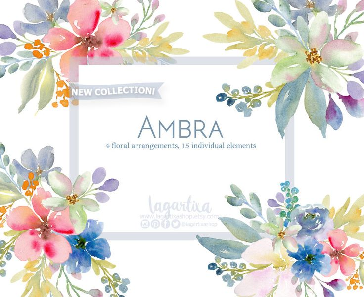 https://www.etsy.com/mx/listing/512176768/acrilico-floral-clipart-png-bouquet-de #floralbouquet #flowers #etsysellers #watercolor #painting #clipart #design #invitations