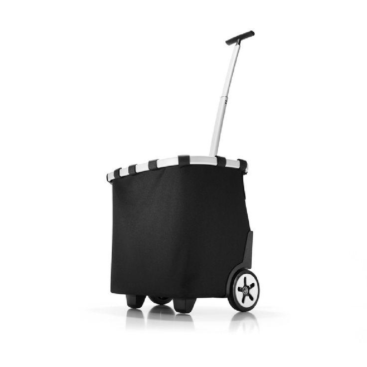 Reisenthel Carrycruiser black reistas  Description: Deze trolley is ideaal als je bijvoorbeeld even naar de supermarkt gaat wat spulletjes kopen of als je ergens heen gaat en je wilt wat meenemen. Deze trolley is gemaakt van polyester hierdoor is de trolley sterk en ook licht. Het materiaal van de trolley is tevens wasbaar en water afstotend erg handig als er per ongeluk toch water op komt. Om de trolley zit een aluminium frame voor versteviging. De Carrycruiser is gemakkelijk mee te nemen…