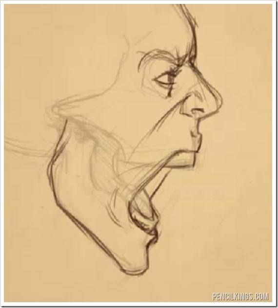 side view of face drawing open mouth - Google Search<<< It took me wayy too long to comprehend that this is a guy with his mouth open, some some jacked-up head and neck XD