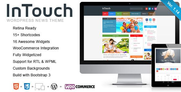 InTouch is a super-duper customizable, very unique, responsive, retina-ready WordPress Theme that everybody wants.InTouch can be configured to focus on your work, your blogging, or both. Theme...