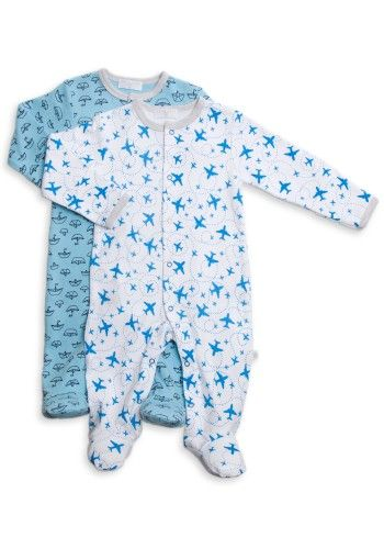 2 pack Coveralls - Sailboat/Airplane Combo