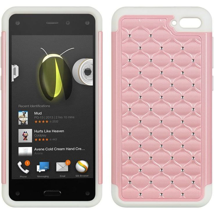 Insten Hard Snap-on Dual Layer Hybrid Case Cover with Diamond For Amazon Fire Phone