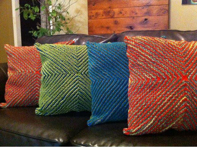 My healthy addiction: Faux chenille and homemade pillow forms