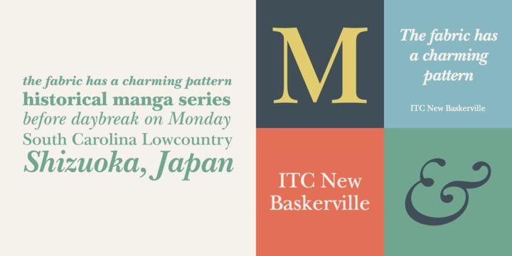 ITC New Baskerville® Font Download Fonts Fonts, Type design