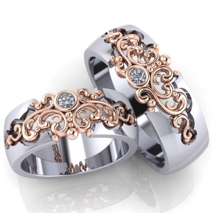 Авторский дизайн этих колец был тщательно продуман нашими специалистами и дизайнерами. Неповторимые линии, безупречная пластика в драгоценном металле и сияющие бриллианты. Все что нужно, чтобы именно Ваша свадьба стала действительно эксклюзивной.  Обручальные кольца с бриллиантами - это, безусловно, уже традиция. Кольца украшают самым прочным в мире драгоценным камнем, символом бесконечной надежности, вечности и благополучия. Обручальные кольца