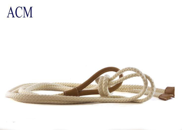Cintura in corda con terminali e anello in vera pelle made in italy #rope #belt #leather #woman