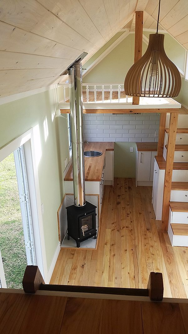 Put A Stove Right In That Tiny Space And The Bathroom And Living Room Under The 2nd Loft Tiny House Bathroom Tiny House Loft Tiny House Design