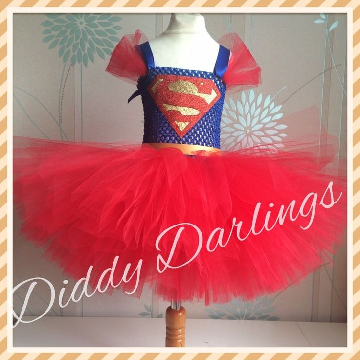 Superman Tutu Dress Party Fancy Dress Christmas Play New Supergirl Tutu Dress #DiddyDarlings #CasualFormalParty