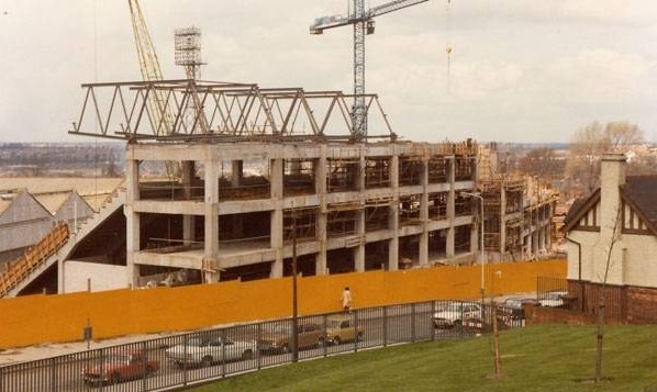 John Ireland Stand being built late 1970s
