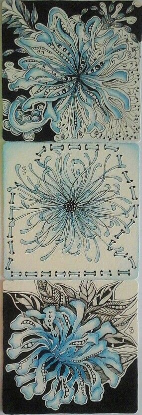 665 best Zentangle patterns images on Pinterest   Doodles