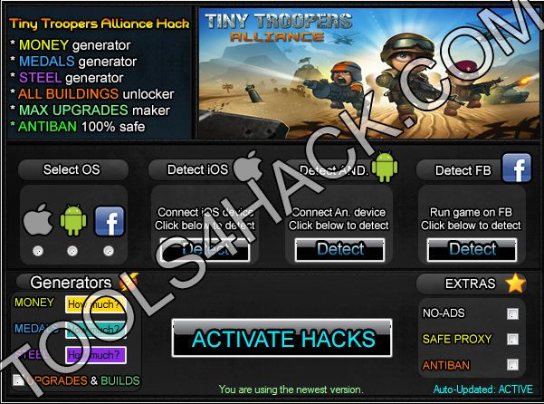 Tiny Troopers Alliance Hack Cheats MEDALS MONEY