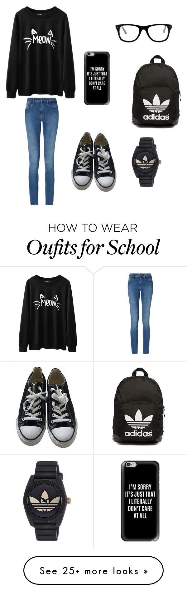 """BFFs outfits for school: @annabeth999"" by holly-hills on Polyvore featuring Calvin Klein, Converse, adidas Originals, Casetify, Muse and adidas"