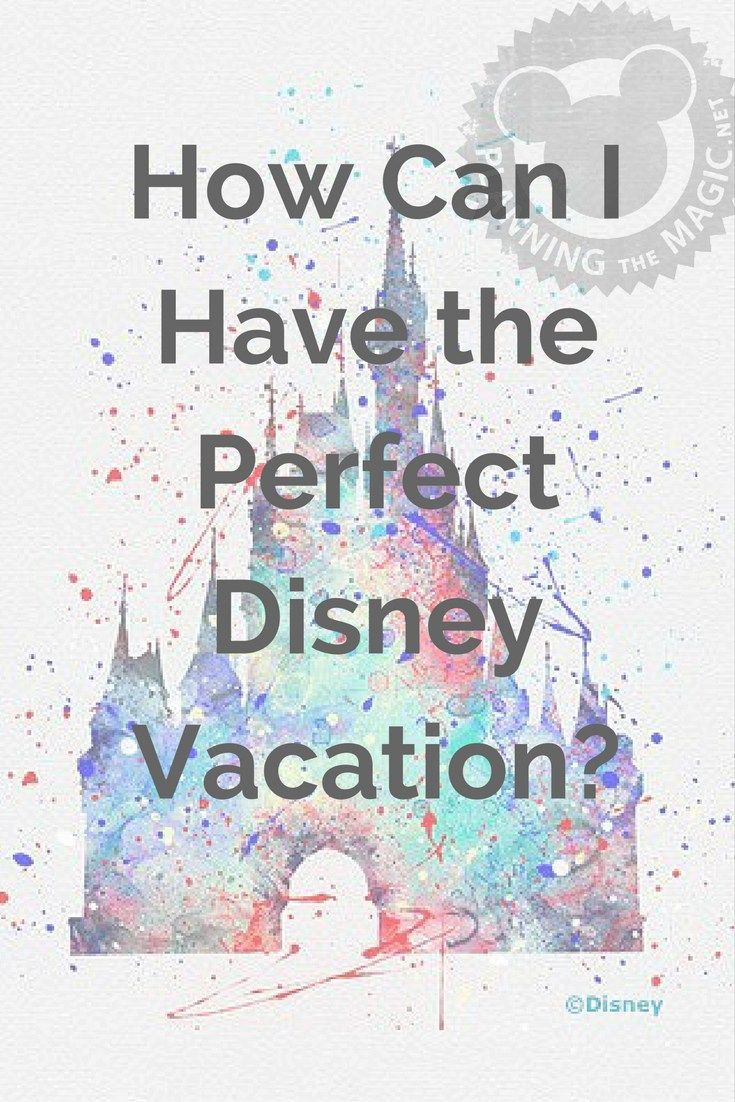 How Can I Have A Perfect Disney Vacation? | Planning The Magic