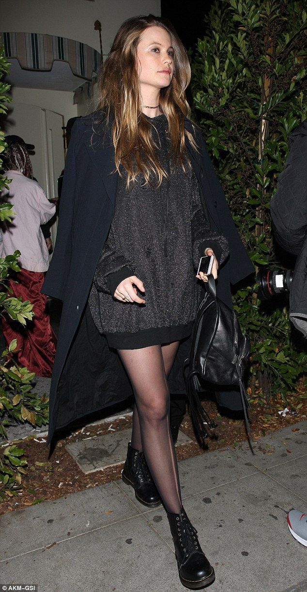 Mommy's night out: Behati Prinsloo was spotted leaving West Hollywood hotspot Delilah on Thursday night