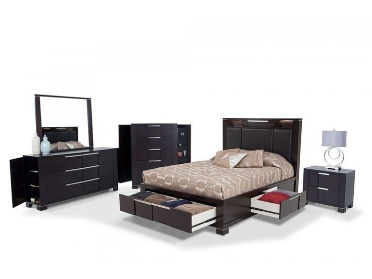 bedroom sets bobs studio 8 king bedroom set studios storage and king 10641