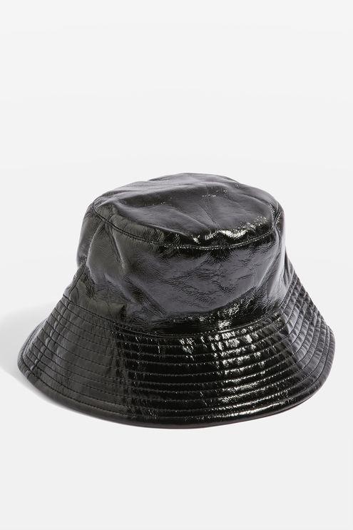 4b3822dbb405a9 Vinyl Bucket Hat | Shiny Fashion to Buy | Hats, Bucket hat, Fashion
