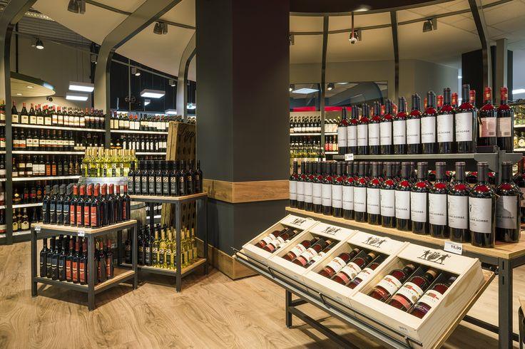 EDEKA Markt Köpper, Niedernwöhren (Germany) #light #retail #wine #edeka #licht #beleuchtung