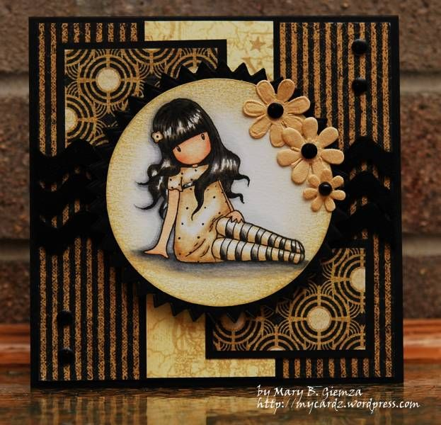 My favorite Gorguss Girl by mbg10001 - Cards and Paper Crafts at Splitcoaststampers... love the dark colors!