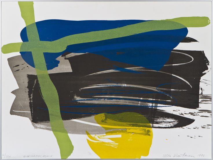 Ulla Rantanen: Auringonlasku, 1986, litografia, 60x80 cm, edition 7/100 - Hagelstam A132