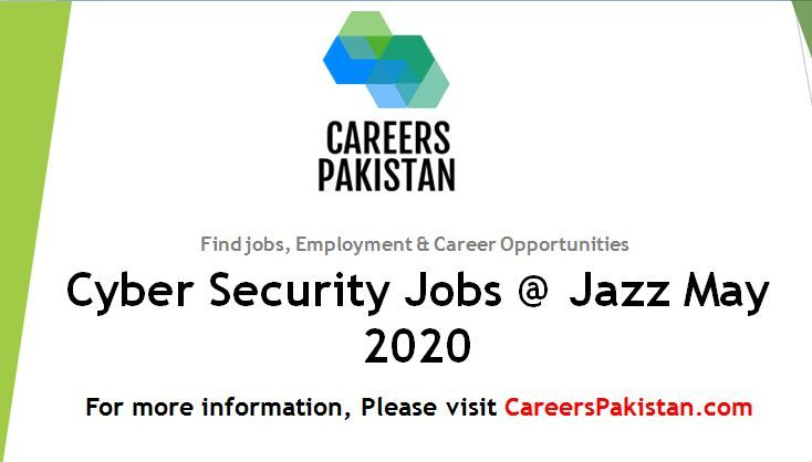 Cyber Security Jobs Jazz May 2020