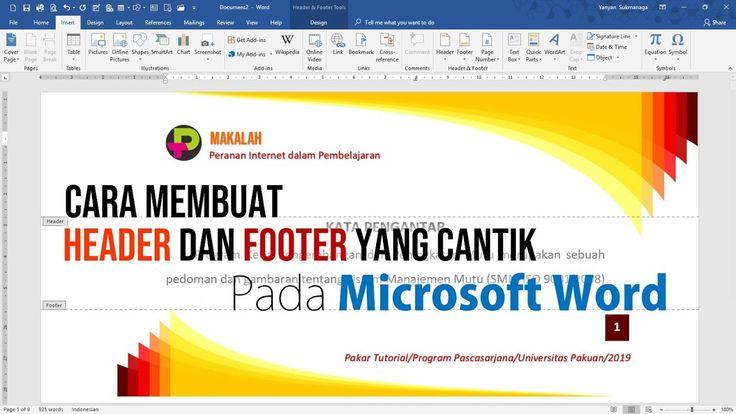Cara Membuat Header dan Footer yang Cantik pada Dokumen ...