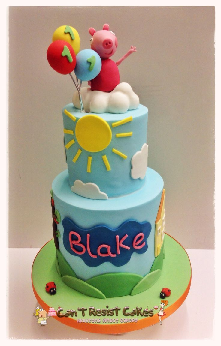 Peppa Pig Cake for a boy or girl