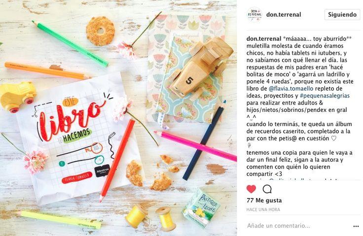 Don Terrenal con mucha generosidad recomienda #EsteLibroLoHacemosVosYYo y te #regala uno #gracias !!!! #reciclar #conectar #craft #manualidades #facil #hogar #niños #mama #hijo #mamablogger #mamabloggera #mum #mom #mami #book #libro