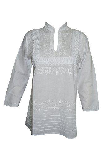 Womens Tunic Shirt Cotton White Hand Embroidered Hippie K... https://www.amazon.ca/dp/B01N7Z9ANI/ref=cm_sw_r_pi_dp_x_kppRzbTKT20AH #TUNIC #BOHO #FASHION #HIPPIE #SALE #WHITE #GIFT #BOHOHIPPIE #GIFTFORHER
