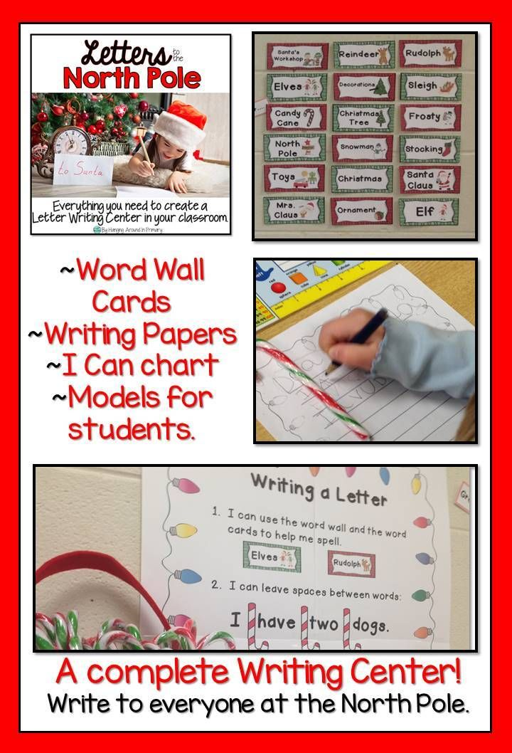 Writing Center. Write to everyone at the North Pole with writing paper ...