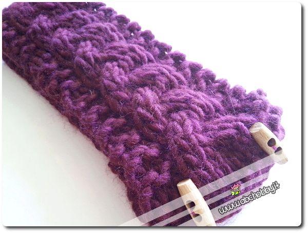 Come realizzare una fascia per capelli a maglia - knit headband tutorial
