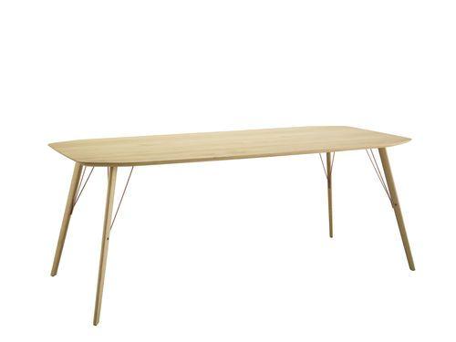 Table contemporaine / en chêne rouvre / en noyer / d'intérieur SANTIAGO by Frank Rettenbacher  Zanotta
