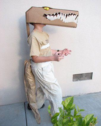 Selbstgemachtes Krokodil Kostüm