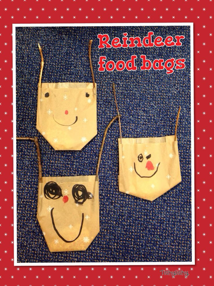 """Reindeer food. Collected sticks from the school garden for antlers. Bag contains oats, """"magic"""" (green glitter) """"love"""" (red glitter)"""