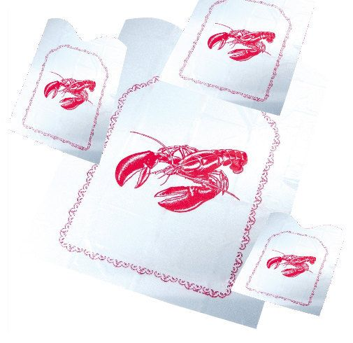 Lobster Bibs invitation inserts clambakes, lobster bake beach parties 24 ct