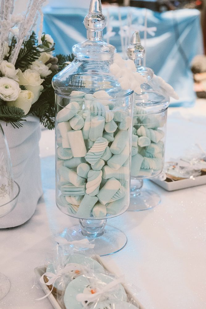 frozen party, marshmallows