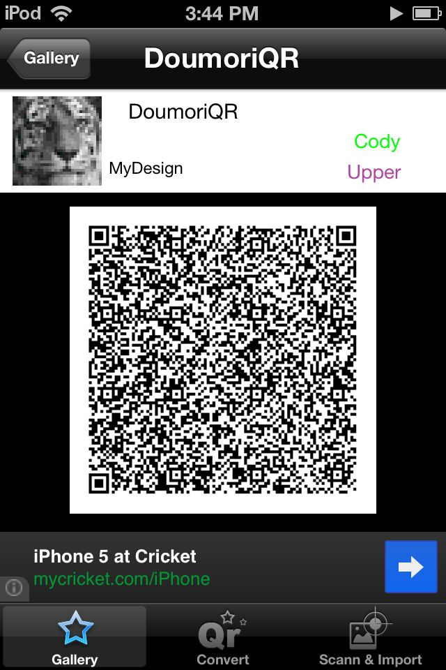 QR MyDesign is a app you can get on any apple device that transfers your pictures to a QR Code to have on your Animal Crossing New Leaf game!