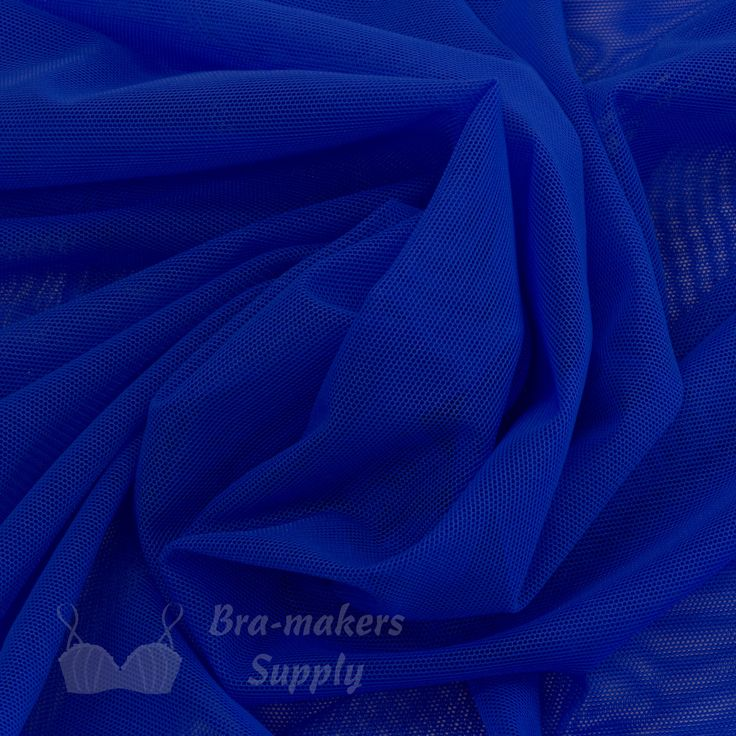 Shown in a goregeous royal blue, our sheer and lightweight Stretch Mesh Fabric is very versatile, a great multipurpose material. Use for bras, dance costumes, skating costumes. 18 beautiful colours. #BraMakersSupply #BraMaking