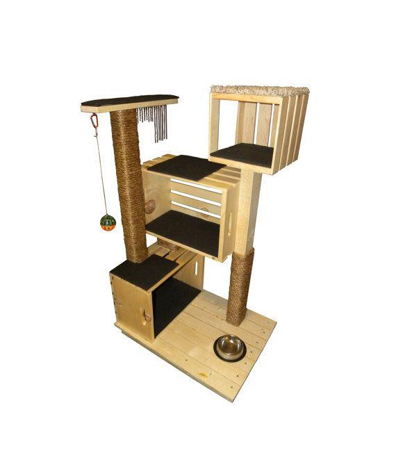 die besten 25 kratzbaum holz ideen auf pinterest verkratzter holz hund im bett und katzen tipi. Black Bedroom Furniture Sets. Home Design Ideas