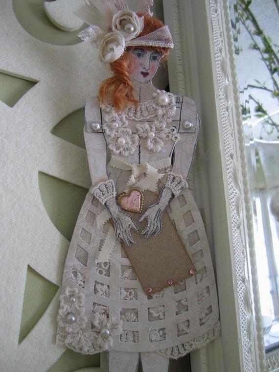 Wedding Doll  Ivory Paper Doll  Victorian Doll  by AvantCarde, $32.00