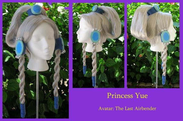 Princess Yue hair | the hair loops have foam in them to make them thick Sara
