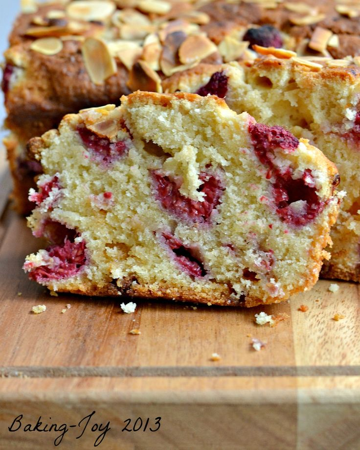 Raspberry and white chocolate almond cake 10