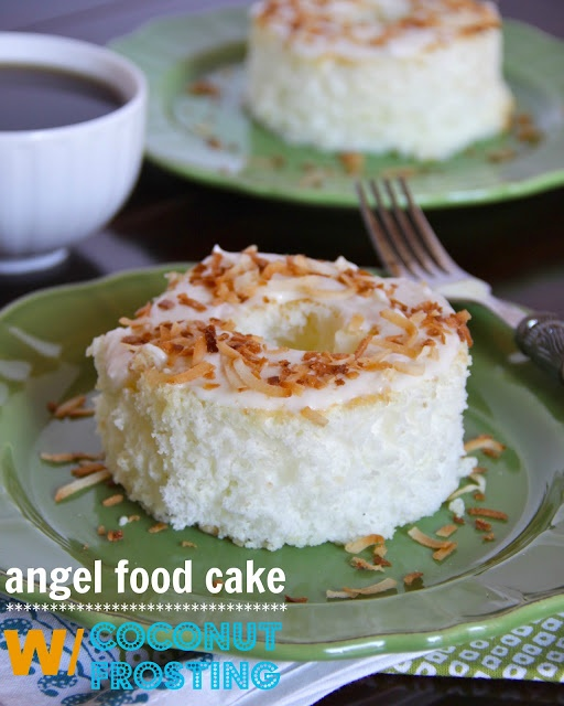 ... fridays: individual angel food cakes with toasted coconut frosting