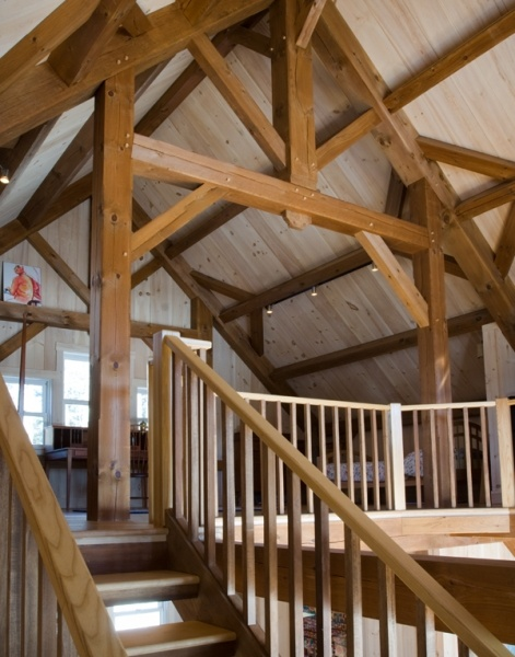 Timber Frame Barn Home Addition Houses And Barns By John