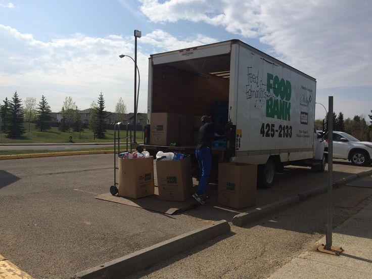 Arashi-Do West Edmonton filling the food bank truck!
