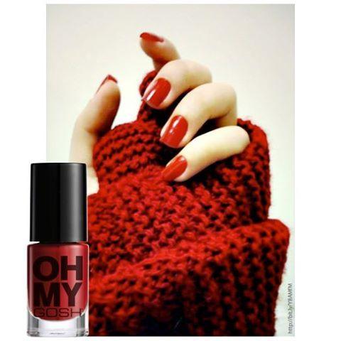 #OhMyGOSH nail polish in Deep Red!
