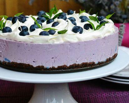Rýchla čučoriedková torta bez pečenia