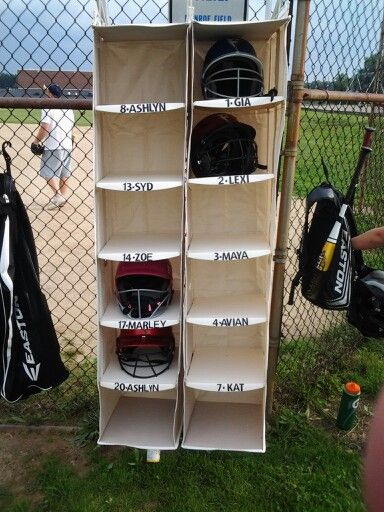 the dugout buddy....2 closet organizers from target and some stickers.