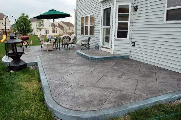 Backyard Concrete Designs Custom Inspiration Design