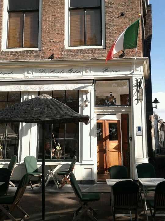 La Piccola Italia.  Good italian resturant with open space in the back.